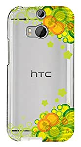 WOW Transparent Printed Back Cover Case For HTC One M8 Eye