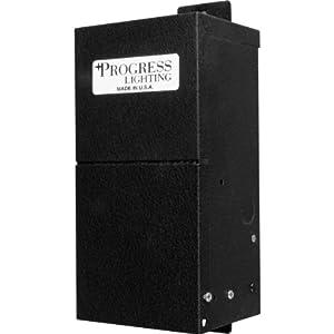 Progress Lighting P8654-31 14 Volt Transformer, Black