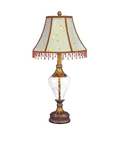 Legacy Lighting Glass Decorative Table Lamp, Gold/White