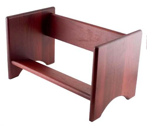 Advantus Hardwood Binder Rack, 16-Inch Capacity, 17 X 10 X 10 Inches, Mahogany Finish (Cw09753)