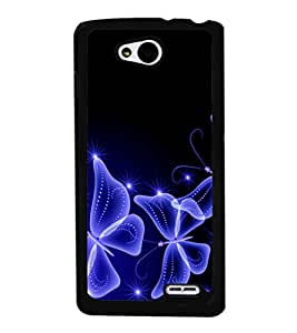 printtech Butterfly Starry Sparkling Back Case Cover for  LG L90