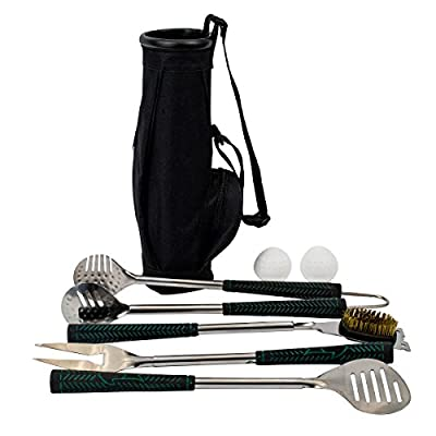 Golf BBQ Tools - 7 Piece Golf Grip Grilling Set