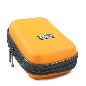 Ex-Pro CR9255E Hard Clam Shock Proof Water Resistant Digital Camera Case Bag for Fuji FinePix - Orange