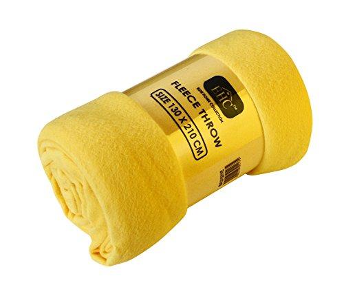 ehc-polar-super-soft-fleece-throw-thermal-sofa-blanket-yellow-single-130-x-210-cm