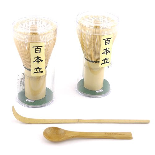 For Sale! 2 Tea Whisks with 1 small scoop, and 1 chashaku for preparing matcha