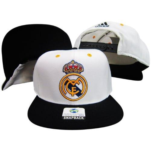 Real Madrid CF Two Tone White / Black Adjustable Soccer Snapback Cap
