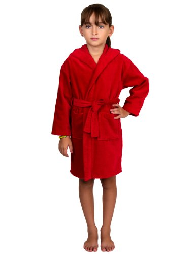 Our Kids Terry Hooded bathrobes are woven with % Quality Turkish Cotton. This bathrobe is % Terry both inside and out for complete absorbency for out of the bathtub, and yet the softest Terry to keep them comfy.