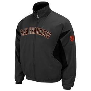 MLB San Francisco Giants Therma Base Premier Jacket, Granite Black by Majestic
