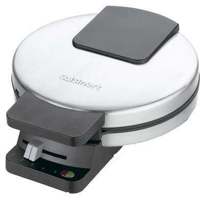 Cuisinart Waffle Maker Brushed Stainless Steel Red & Green