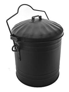 Ash Carrier Tidy Box Bucket Handy Charcoal Holder BBQ Dusty Bin