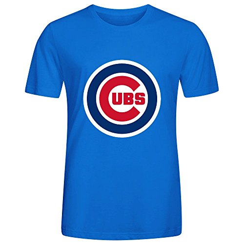 [MLB Chicago Cubs Team Logo Crew Neck Polo T Shirts For Men Blue] (Monster High Dia De Los Muertos)