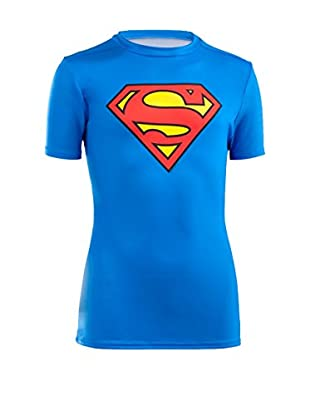 Under Armour Camiseta Técnica Boys Alter Ego Fitted (Azul Royal / Rojo)