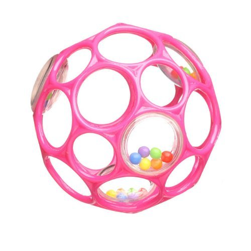 Rhino Toys Oball Rattle, Hot Pink - 1