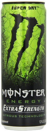 Monster Nitrous Energy Drink, Super Dry, 12-Ounce Cans (Pack of 24)