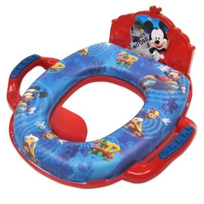 Ginsey Disney ' Mickey Mouse Deluxe Soft Potty Trainer With Sound In Blue/red - 1
