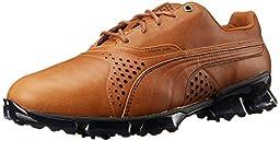 PUMA Men\'s Titantour Golf Shoe, Brown/Mustang, 9 M US