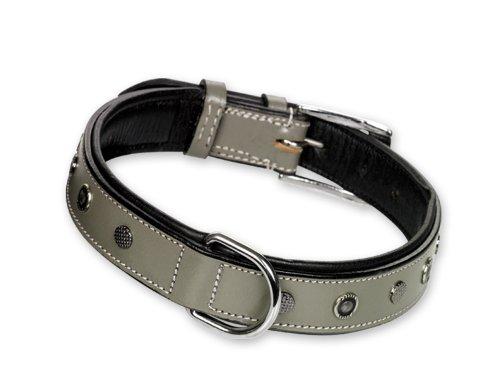nobby-leather-collar-catori-60-cm-30-mm-grey-black