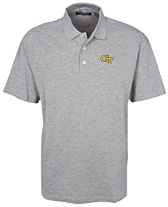 Oxford Golf NCAA Georgia Tech Mens 3 Button Polo with Hemmed Sleeves by Oxford
