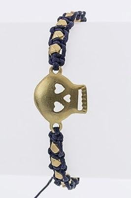 Tiffany & Zara Stringed Beads With Metal Skull Bracelet from Karmas Canvas
