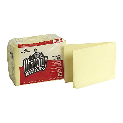 brawny-industrial-29616-yellow-1-4-fold-dusting-cloth-24-length-x-17-width-case-of-4-poly-pkgs-50-pe