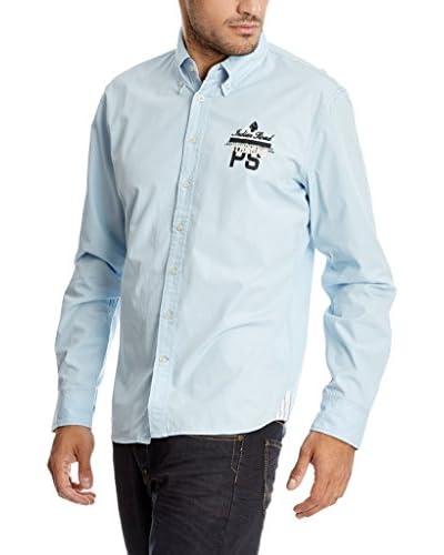 Paul Stragas Camisa Hombre Azul Claro