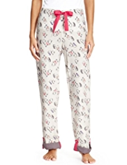 Limited Collection Pure Cotton Penguin Print Pyjama Bottoms