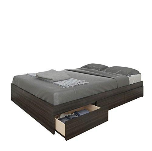 Nexera 225430 Atom 3 Drawer Reversible Storage Bed Full