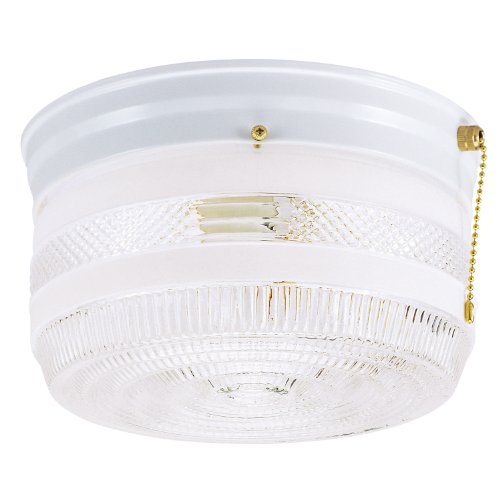 westinghouse-6734500-two-light-flush-mount-interior-ceiling-fixture-with-pull-chain-white-finish-wit