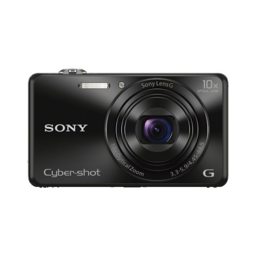Sony DSCWX220 Compact Digital Camera with Wi-Fi and NFC - Black (18.2MP Black Friday & Cyber Monday 2014