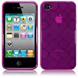 iPhone 4 4S 4G Perfect Pink Spiral Circles Gel Case Cover Protector Shield from Keep Talking Shop iPhone 4 / iPhone 4S Accessoriesby The Keep Talking Shop