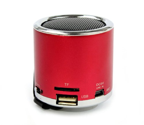 Susenstore New Mini Blue Light Stereo Fm Radio Tf Usb U Disk Mp3 Aux Music Speaker Player