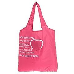 (ユナイテッドカラーズオブベネトン) UNITED COLORS OF BENETTON ポケッタブルエコバッグ ハート(日本限定) ピンク FREE