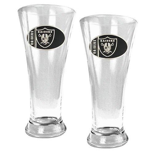 Nfl Oakland Raiders Two Piece 19-Ounce Pilsner Glass Set