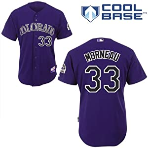 Buy Justin Morneau Colorado Rockies Alternate Purple Authentic Cool Base Jersey by Majestic by Majestic