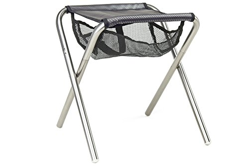 Grand Trunk Collapsible Camp Stool Black Silver Sporting