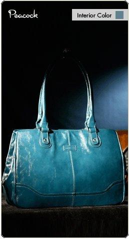Namaste Peacock Blue Monroe Handbag Shoulder Bag Tote