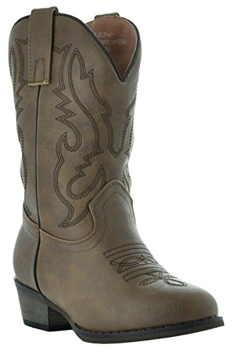 Country Love Little Rancher Kids Cowboy Boots K101-1001 (10, Brown)