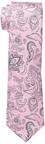 Haggar Men's Tall Performance Paisley Necktie, Large Long, Pink (Pink Extra Long Ties compare prices)