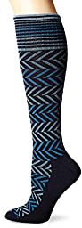 Sockwell Women\'s Chevron Socks, Navy, Small/Medium