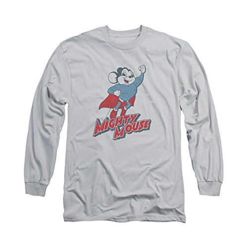 Mighty Mouse Cartoon Tv Series Mighty Blast Off Adult Long Sleeve T-Shirt Tee