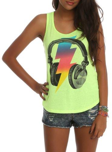 Bolt Headphones Girls Tank Top Size : Large
