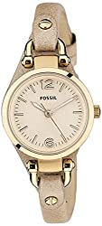 Fossil Analog Rose Gold Dial Womens Watch - ES3262