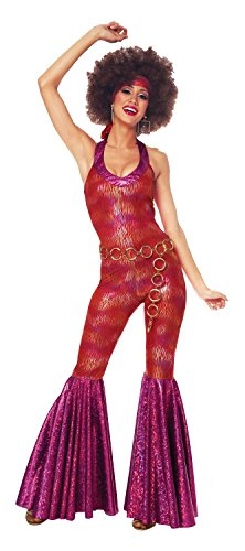 Costume Culture Women's 70's Foxy Lady Costume, Red, Small