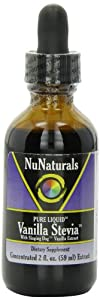 NuNaturals Pure Liquid Vanilla Stevia, 2 Ounces (Pack of 2)