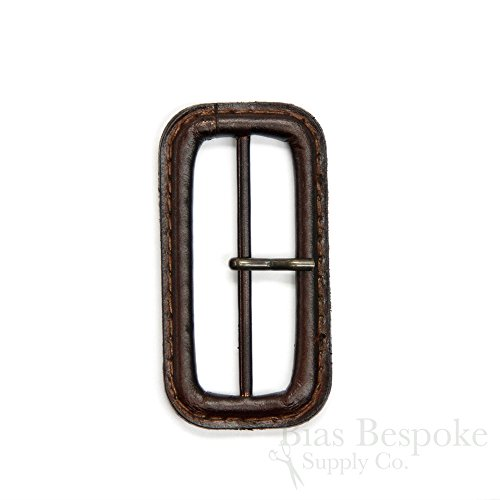 "Dark Brown 2"" Leather Buckle, Made in Italy"