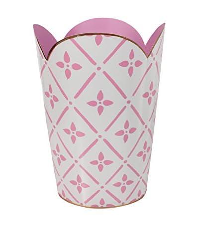 Jayes Flora Tulip Wastebasket, Pink