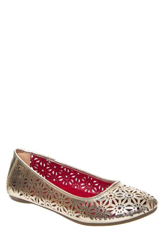 Kenneth Cole Kid'S May To Side Perforated Ballet Flat Shoe