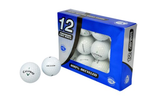 Second Chance Golfbälle 12 Callaway HX Hot Lake A-Qualität, weiß, PRE-12-CAL-HXH
