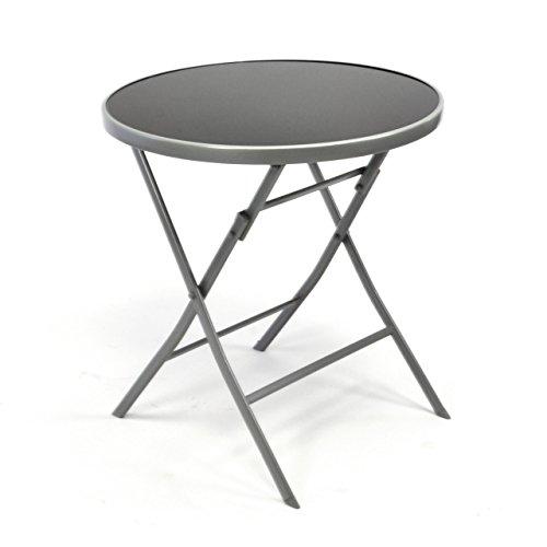 Bistrotisch-mit-Glasplatte-klappbar-Terrassentisch-Gartentisch-Glastisch-schwarz