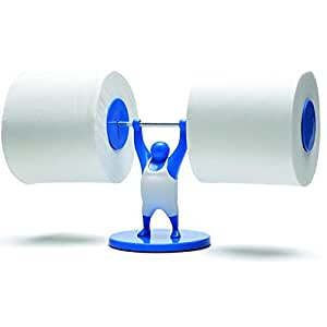 Mr T Designed Strong Man Weightlifter Bathroom Toilet Paper Tissue Roll Holder Blue Monkey
